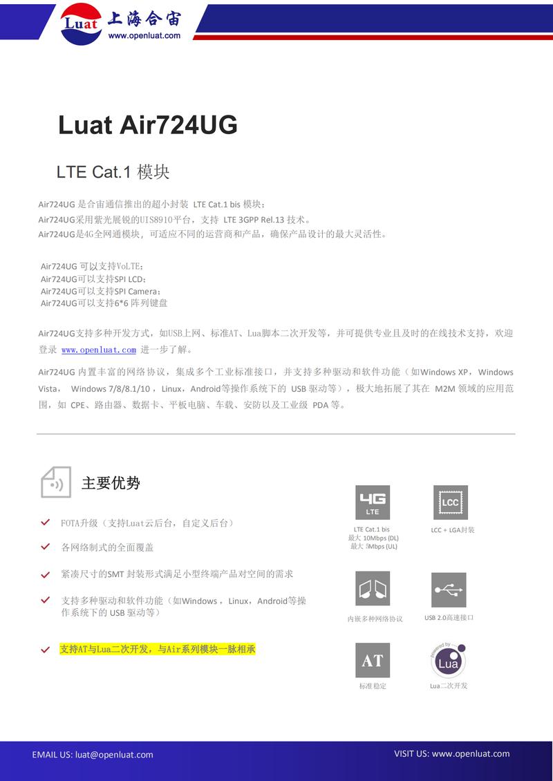 Air724UG模块产品规格书